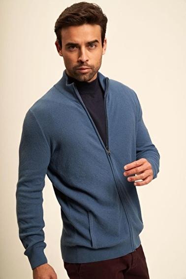 Silk and Cashmere Ceket İndigo